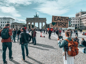 Climate Strike Berlin 2019 20th September Greta Thungberg Fridays for Future Brandenburger Tor Sign Poster Earth First Earthy Eco