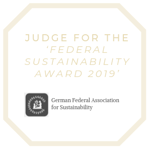 Earthy Eco Manja Hoffner Judge German Federal Association for Sustainability Federal Sustainability Award 2019 Berlin